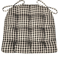 Checkers Black and White Dining Plaid Chair Pad | Barnett Home Decor