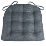 Chenille Rib Slate Grey Dining Chair Cushion - Barnett Home Decor - Grey