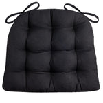Cotton Duck Black Solid Color Dining Chair Pads - Barnett Home Decor - Black