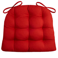Cotton Duck Flame Red Dining Chair Cushions  - Barnett Home Decor - Red - Bright