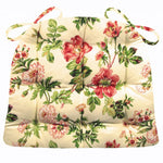 Farrell Multi Pink Roses Floral Dining Chair Pads | Barnett Home Decor
