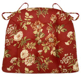 Farrell Red Floral Dining Chair Cushion | Barnett Home Decor