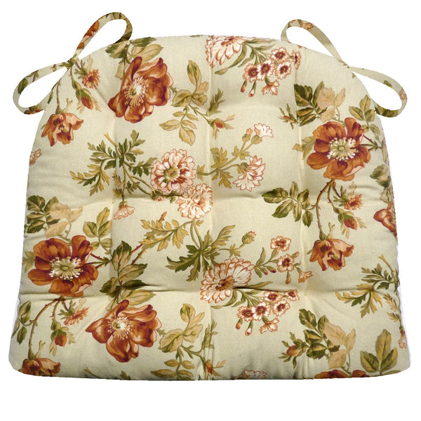 Farrell Sage Floral Dining Chair Cushion | Barnett Home Decor
