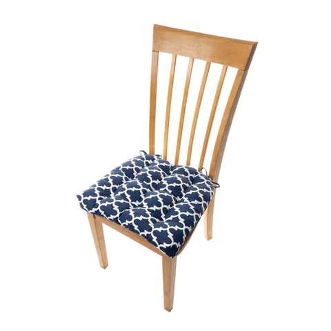 Fulton Ogee Navy Blue Indoor/Outdoor Dining Chair Pad | Barnett Home Decor | Navy Blue