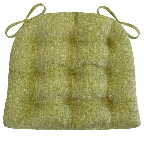 Hayden Meadow Green Woven Dining Chair Cushions | Barnett Home Decor | Green