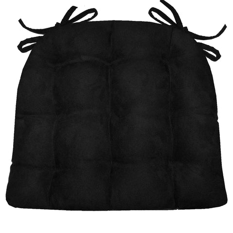 Woodlands Larston Brick Chair Cushion Reverse to Microsuede Black