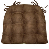 Woodlands Larston Bark Chair Cushion Reverse to Microsuede Brown