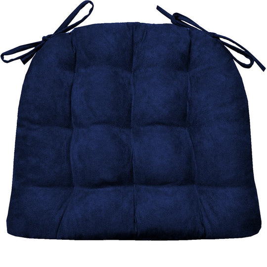 Micro Suede Royal Blue Dining Chair Cushions | Barnett Home Decor | Blue - Deep Blue