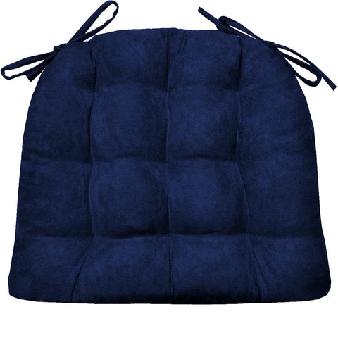 Micro Suede Royal Blue Soild Dining Chair Cushion | Barnett Home Decor