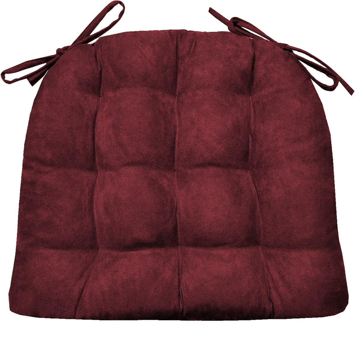 Micro Suede Wine Red Soild Dining Chair Cushion | Barnett Home Decor ...