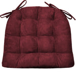 Micro Suede Claret Red Dining Chair Cushions | Barnett Home Decor | Wine Red