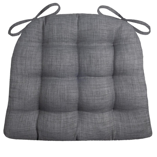 Rave Graphite Grey Indoor / Outdoor Dining Chair Pads & Patio Cushions