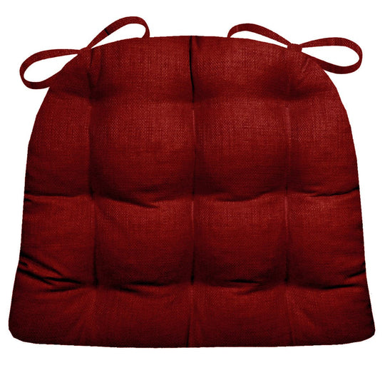 Rave Red Indoor/Outdoor Dining Chair Cushions | Barnett Home Decor | Red