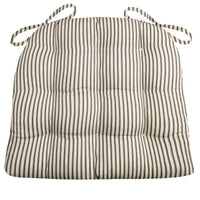 Ticking Stripe Black Dining Chair Pads | Barnett Home Decor