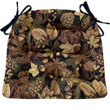 Woodlands Forest Floor Dining Chair Cushions - Barnett Home Decor - Brown, Green, & Black