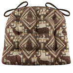 Woodlands Larston Bark Dining Chair Cushions - Barnett Home Decor - Brown & Beige