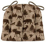 Woodlands Waypoint Brown Dining Chair Cushions - Barnett Home Decor - Brown