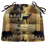 Woodlands Brentwood Dining Chair Cushions - Barnett Home Decor - Bronze, Beige, & Gold