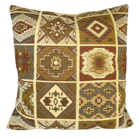 "Southwest Durango Spice 17"" Pillow Cover - Optional Feather Pillow Insert"