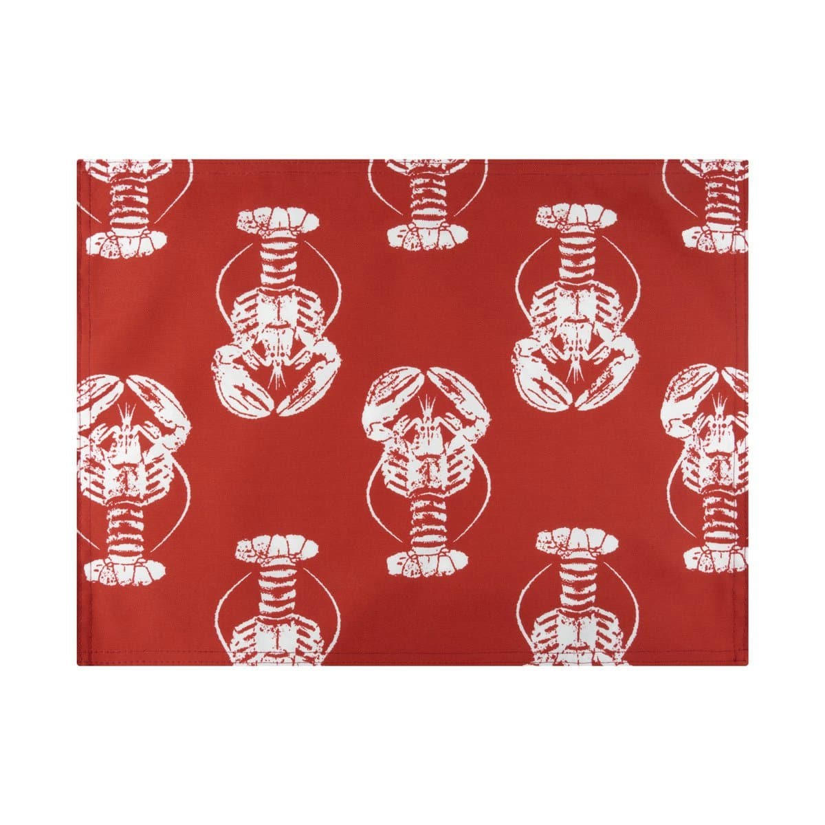Sea Shore Lobster Red Placemats - Set of 4 - Reversible, Stain Resistant