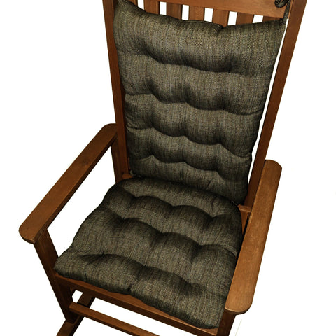 Handsome Black Rocking Chair Cushion - Latex Foam Fill - Reversible