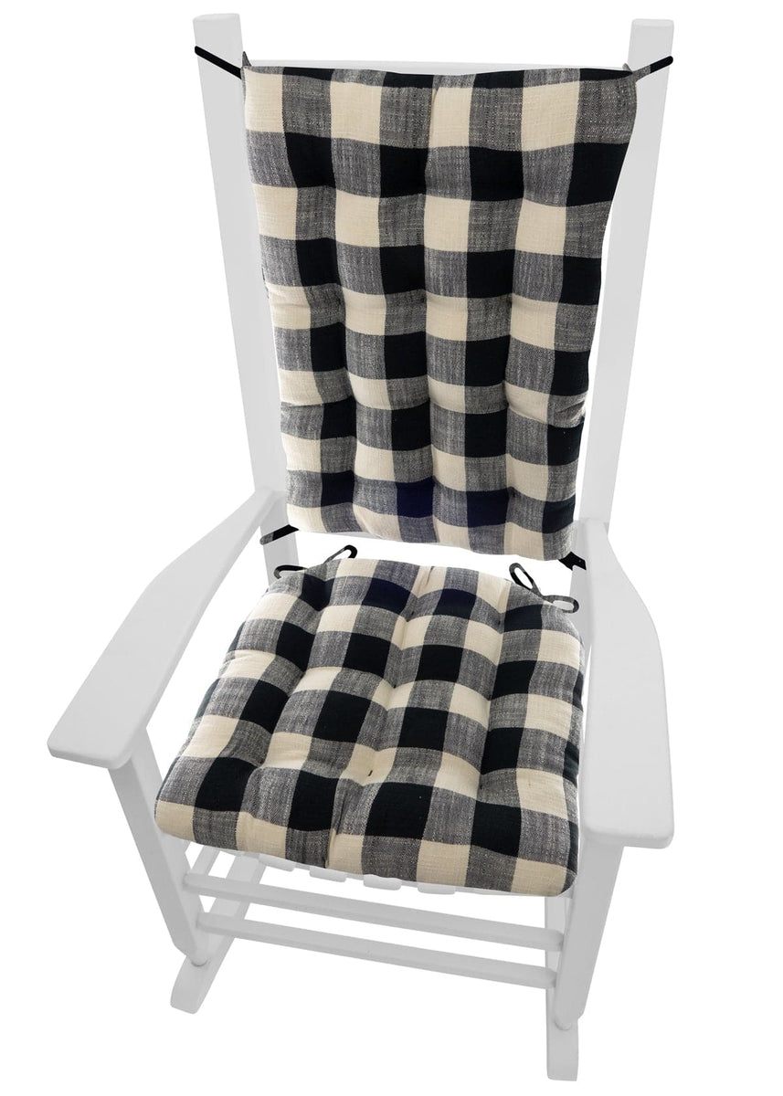 Swell Pastoral Buffalo Check Rocking Chair Cushion Set Latex Foam Fill Reversible Uwap Interior Chair Design Uwaporg