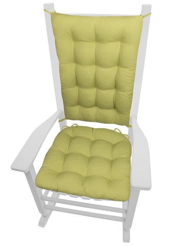 Cotton Duck Pear Green Rocking Chair Cushions - Barnett Home Decor - Green