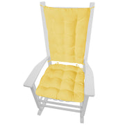 cotton duck yellow rocking chair cushions - barnett home decor - solid color