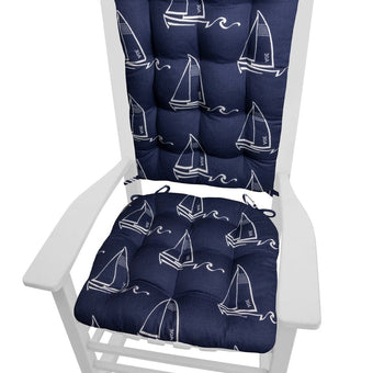 Seaton Sailboats Rocking Chair Cushions | Barnett Home Decor