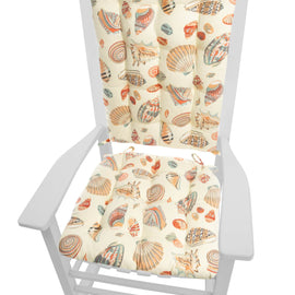 Shells at Low Tide Rocking Chair Cushions - Barnett Home Decor - Ivory
