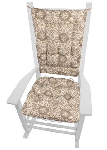 Signature Taupe Rocking Chair Cushion Set - Latex Foam Fill