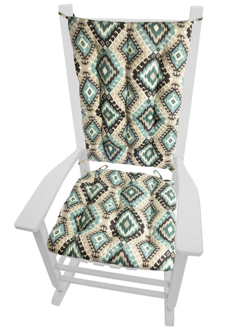 Southwest Moonstruck Rocking Chair Cushions - Latex Foam