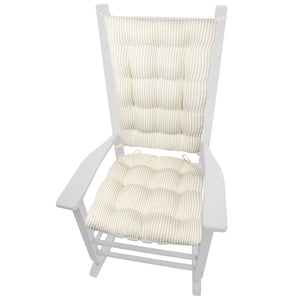 Ticking Stripe Natural Rocking Chair Cushions - Latex Foam Fill