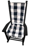 Vignette Buffalo Check Black Rocker Cushions - Latex Foam Fill
