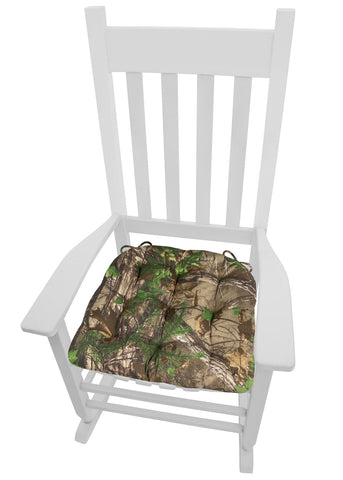 Realtree Xtra Green (R) Camo Rocking Chair Cushions - Latex Foam Fill - Reversible, Tufted - Standard, XL, XXL