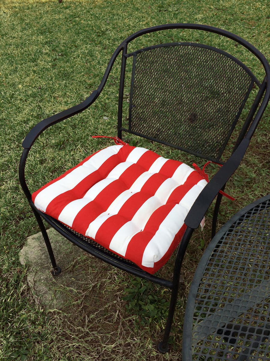 Sea Shore Stripe Red Indoor Outdoor Dining Chair Pads