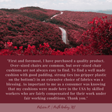 Micro Suede Claret Red Dining Chair Cushions Customer Testimonial