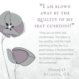 Classic Check Taupe Dining Chair Cushions Customer Testimonial