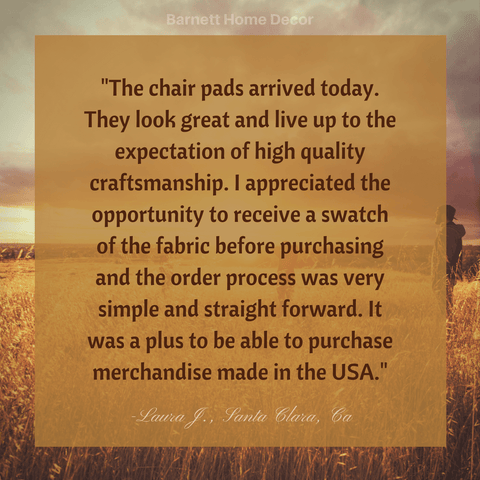 Hayden Copper Dining Chair Cushions Customer Testimonial