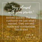 Checkers Black and Tan Chair Cushion Testimonial