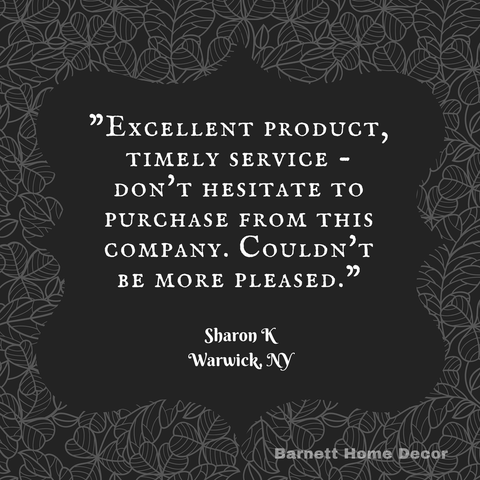 Tiffany Black Brocade Dining Chair Cushions Customer Testimonial