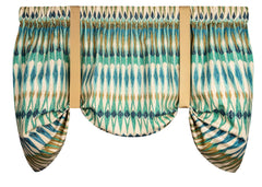 Southwest Arapaho Tie-Up Valance or Tier Curtain Window Treatments