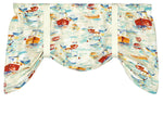 Spinnaker Sailboats Tie-Up Valance or Tier Curtain Window Treatments - Nautical Decor