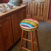 Westport Red Indoor/Outdoor Barstool Cushion | Barnett Home Decor | Red, Green, Blue, & Yellow