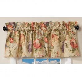 Lismore Cafe Valance - Straight Tailored Window Treatment - Multi Floral