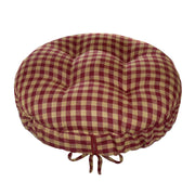Checkers Red and Tan Barstool Cover | Barnett Home Decor | Red & Tan