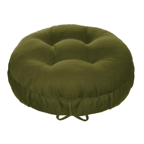 Cotton Duck Olive Barstool Cover with Cushion and Adjustable Yoke