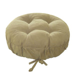 Corduroy Pinwale Beige Bar Stool Cover | Barnett Home Decor | Beige