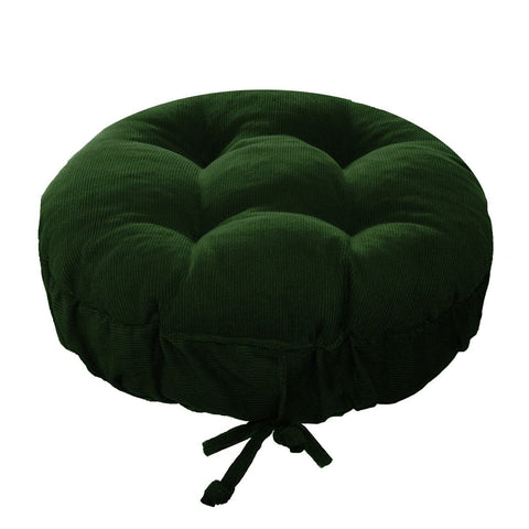 Corduroy Pinwale Hunter Green Bar Stool Cover | Barnett Home Decor | Green