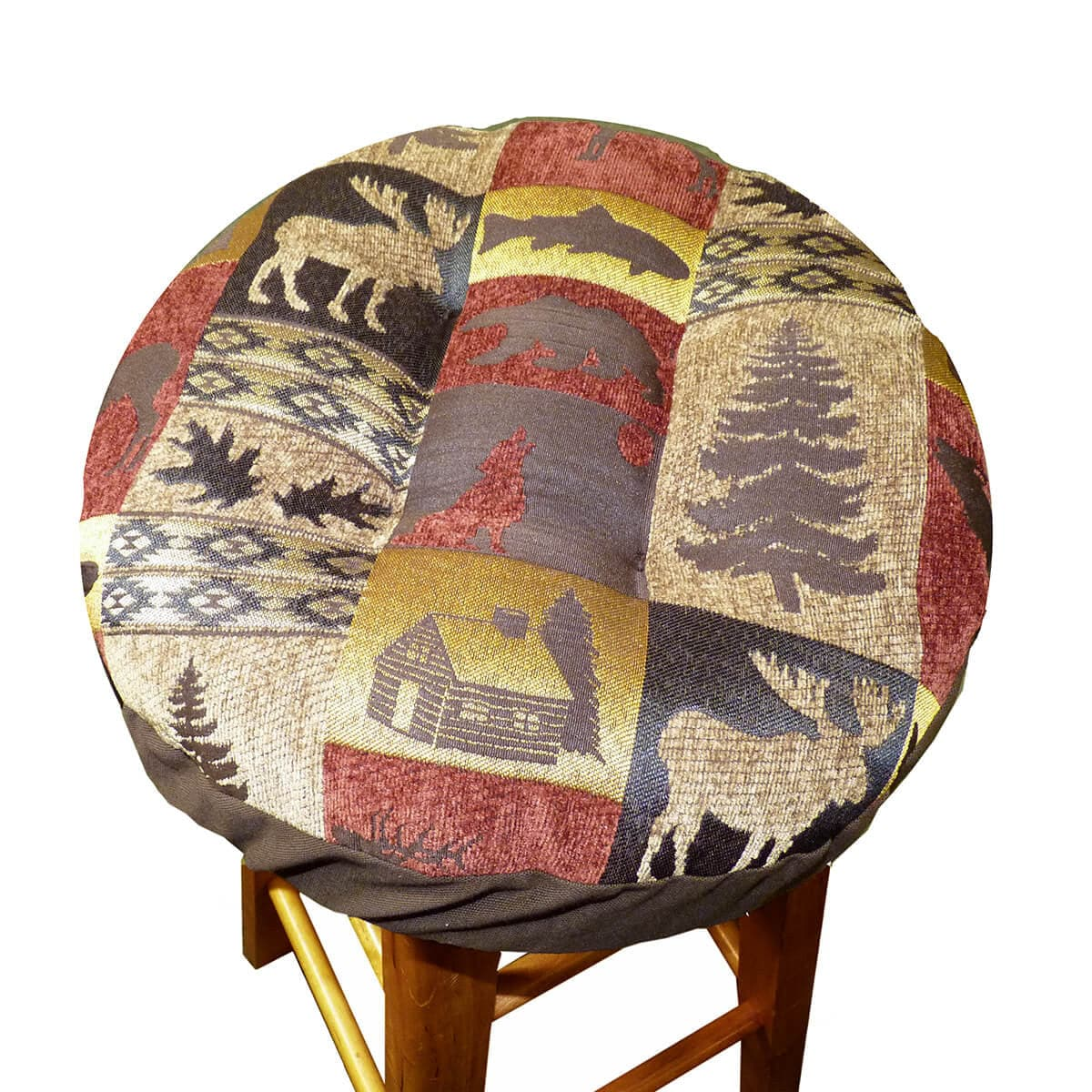 Woodlands Fairbanks Bar Stool Cover With Cushion And